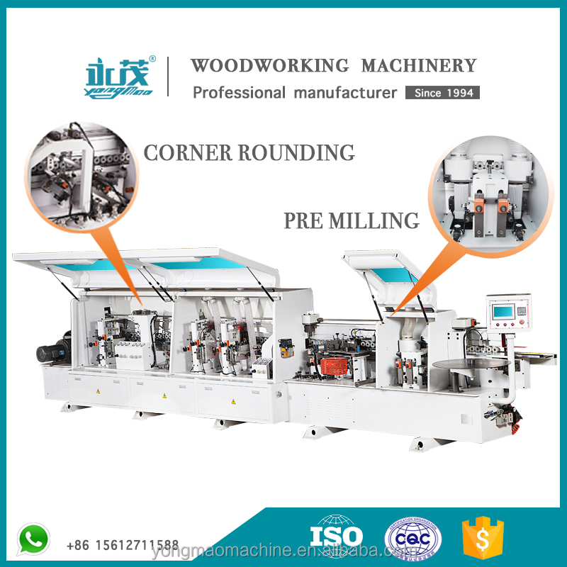 Premium Quality automatic edge banding machine with pre milling and corner rounding