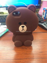 case phone 2017 small bear silicone mobile phone case cover gift brown bear cartoon shell cute case for iphone