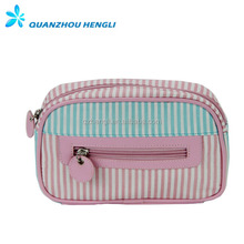 Professional beauty cosmetic pouch Ladies makeup bag with zipper