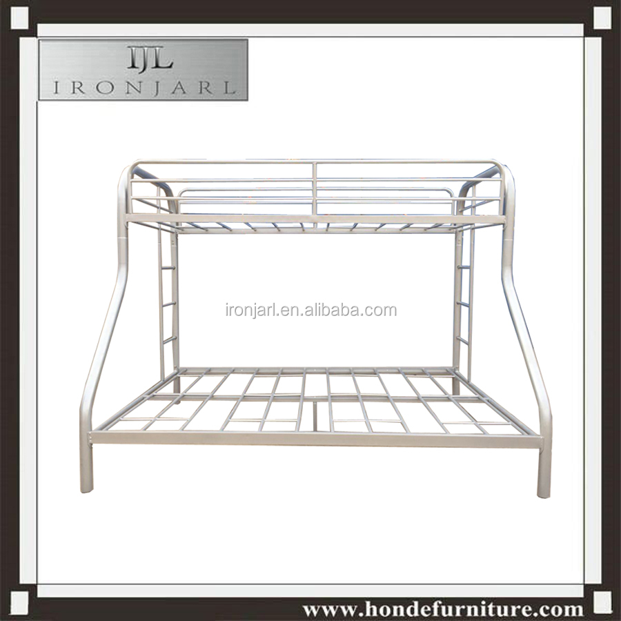 Wrought iron double decker triple bunk bed home bed
