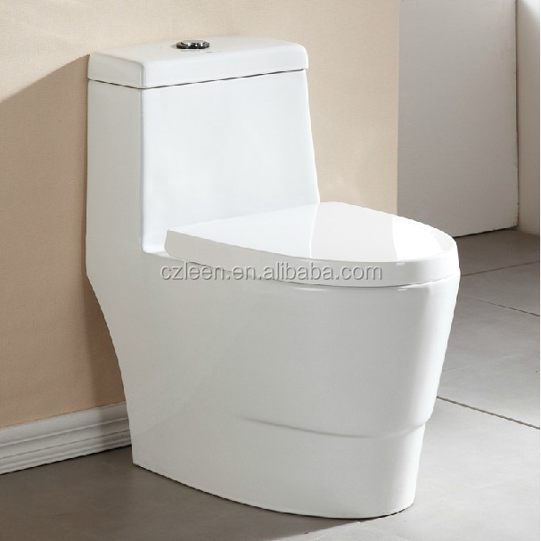 China wholesale ceramic material round one piece toilets