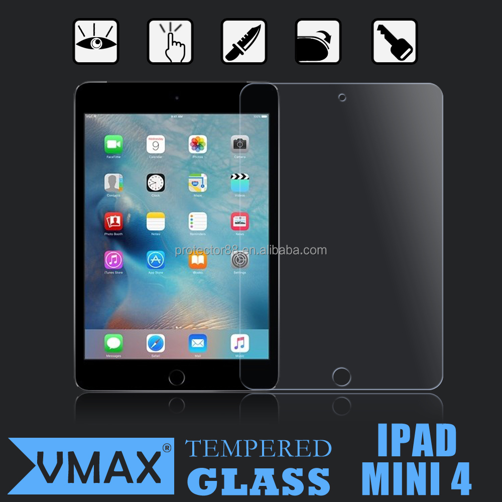 New Arrival! 0.33mm 2.5d anti-broken tempered glass screen protector for ipad mni 4 / For ipad mini 4 screen protector