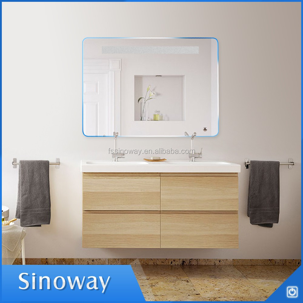 중국 거울 공장 새로운 디자인 Fogless LED 조명 샤워 거울 욕실 ...