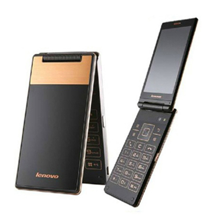 Lenovo A588T GSM 4 inch 800x480 Cell Phones For Old Man 2250mAh SIM Flip Dual Sim Mobile Phone