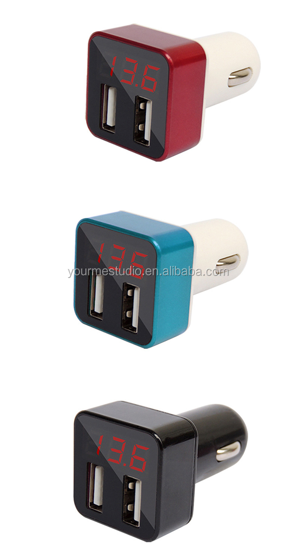 High quality vehicle Multifunction Car charger Dual usb