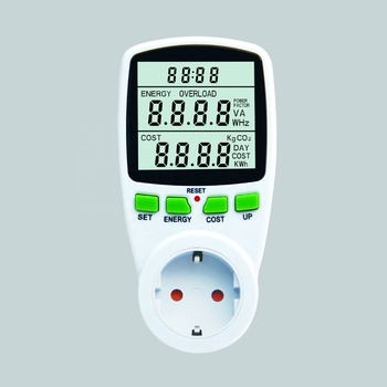 EU Plug Electric Energy Saving Power Meter EU Meter Wireless Watt Consumption Monitor Analyzer