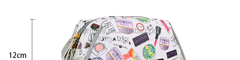 custom printing high quality pu leather cosmetic bag series