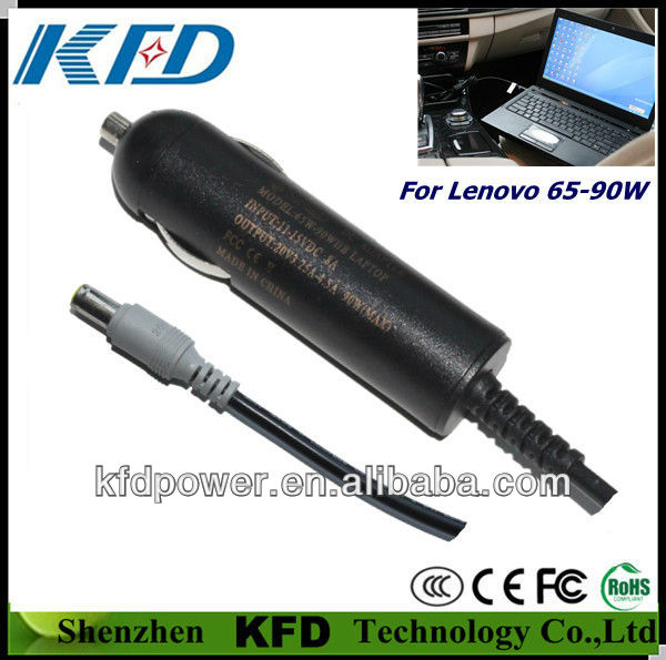 Oem Portable laptop car charger for IBM 20V3.25A 20V4.5A 65W/90W