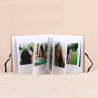 cheap hardcover printing wire o binding 45x6 wedding photo album book