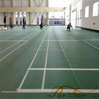 Hot Sale Colorful 3.5mm~12mm badminton court pvc wood flooring