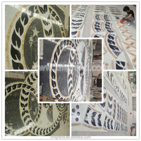 Black and yellow Marble Waterjet medallion&pattern for floor tiles