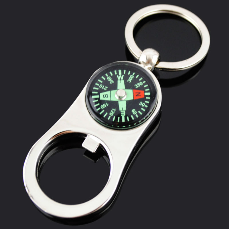 Compass Shape Bottle Opener Keychain With High Quality