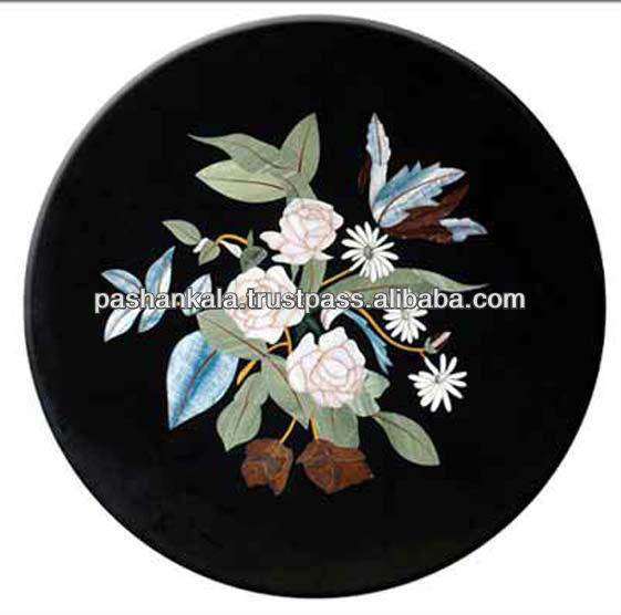 Marble Stone Inlaid Marquetry Table Top