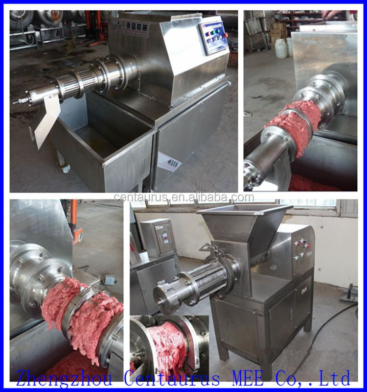 Stainless steel beef /pork bone and meat separator machine with high quality and factory price