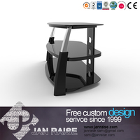 Reliable and High quality tempered glass led tv stand