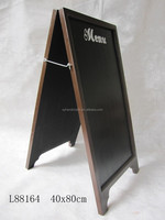Bar Decoration Furniture,40*80 CM black Double sided A frame wooden coffee menu board