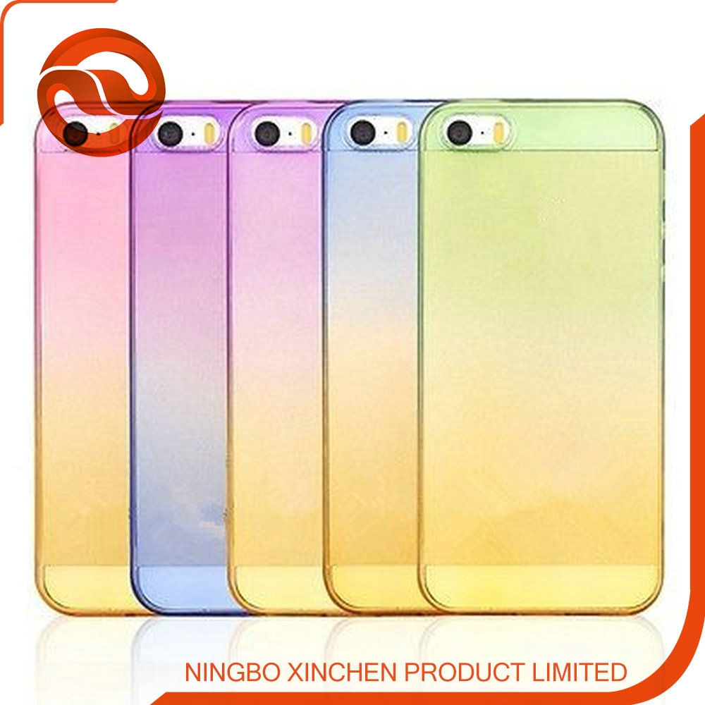 Gradient TPU Case For iPhone 6s plus mobile phone gradient color case for iphone 6s