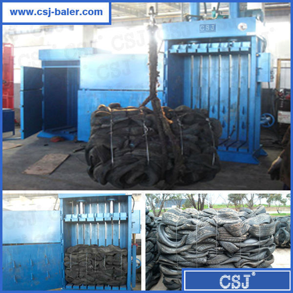 Anti double-rebound device equipped tire baler press for sale