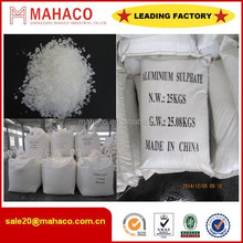 2015 Hot Sale Water Treatment Chemcials Iron Free Aluminium Sulphate 17%/Aluminium Sulfate