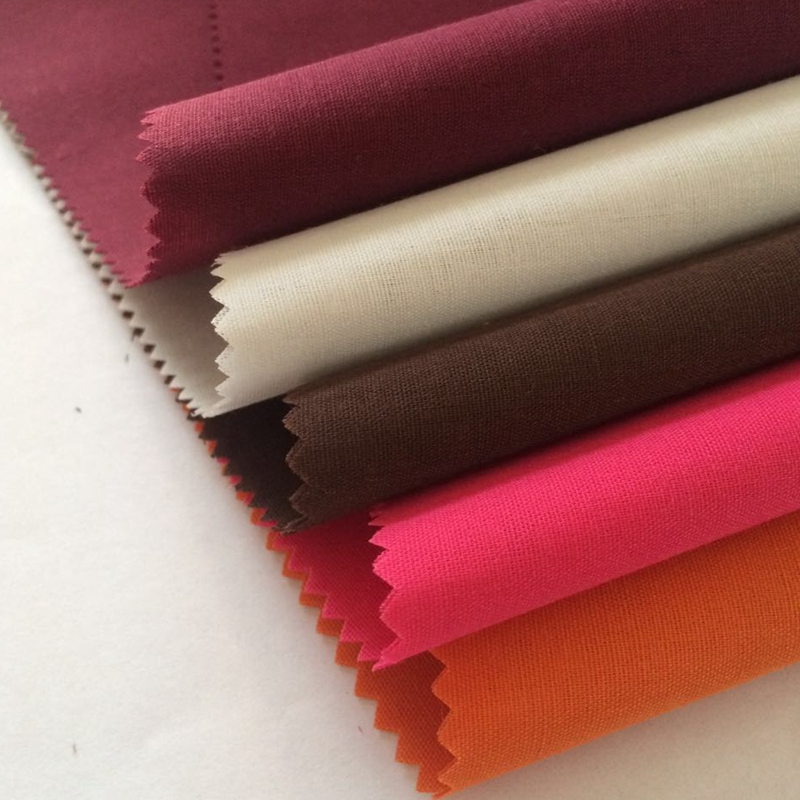 90/10 polyester cotton woven lining dress fabric pleated
