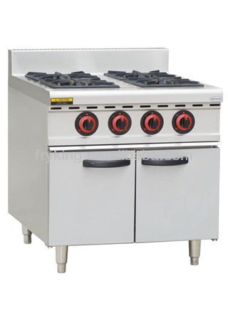 gas range with 4 burners&oven