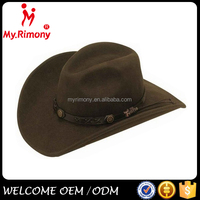 Brown fancy design your own cowboy hat for sale