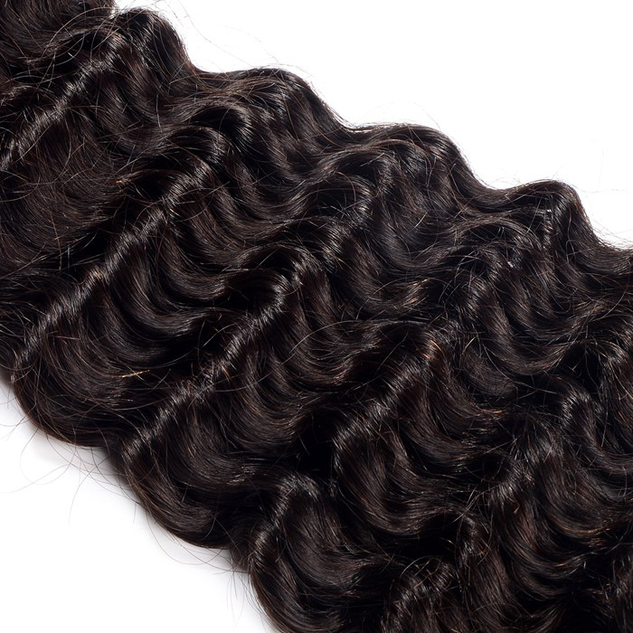 No chemical processing double tape hair extension with top quality,Best quality cheap 6a deep wave brazilian human hair weavings