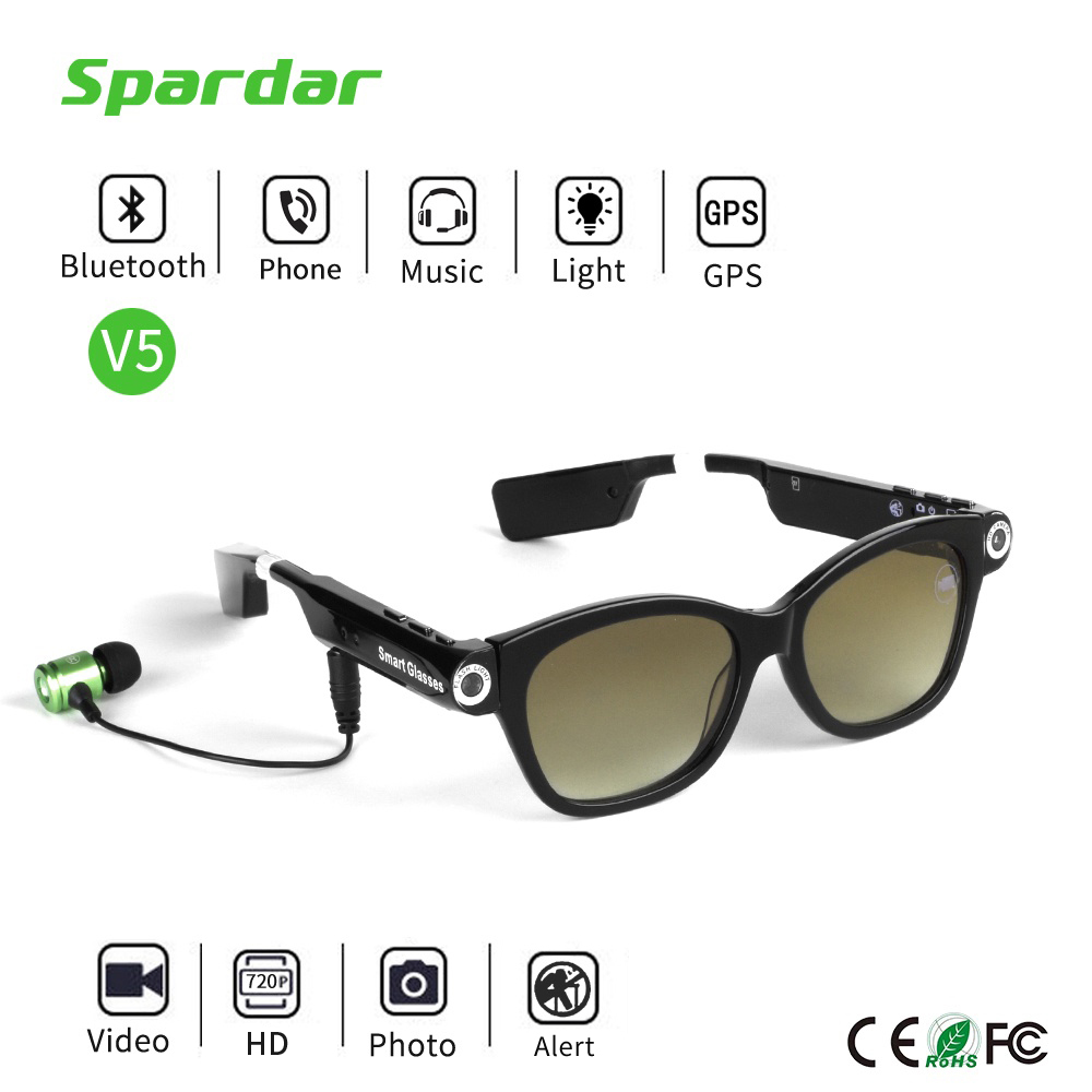 HD Vision Sunglasses Camera Eyewear with Bluetooth