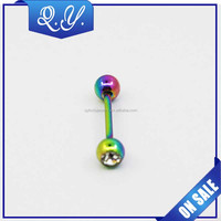 Custom colorful stainless steel labret piercing jewelry fashion design lip piercing