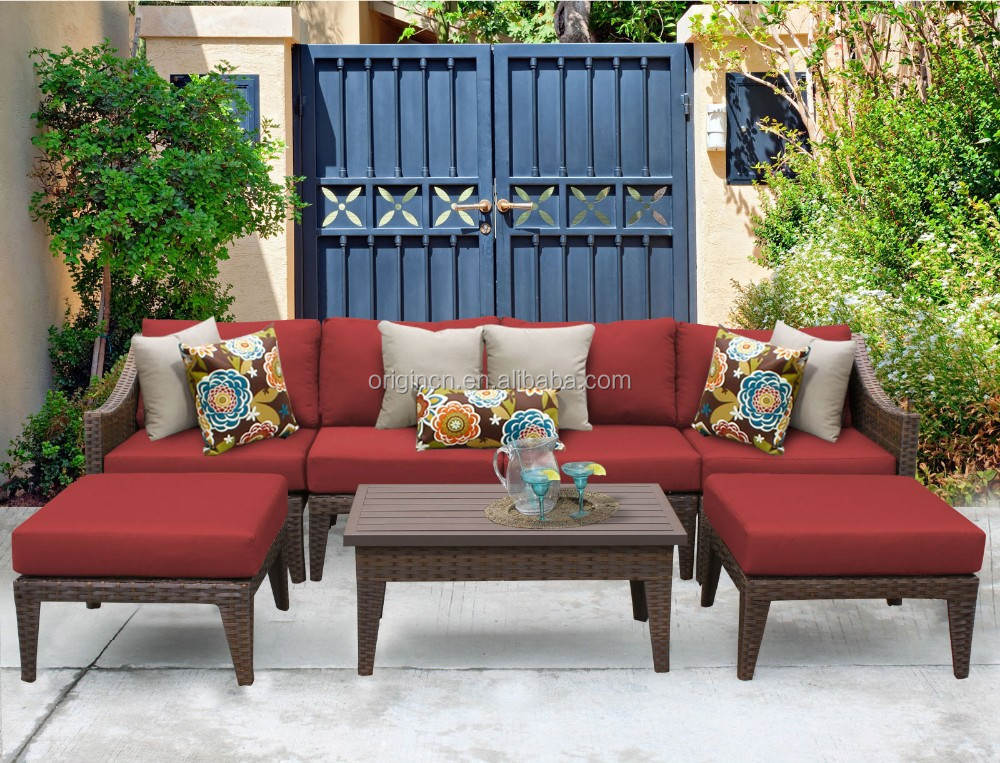 Wholesale outdoor garden lounge furniture china rattan wicker recliner sofa set