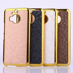 New Arrival 4 Colors Luxury Diamond Leather Sticker Case for HTC One M9 plus