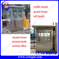Strong frame Colorbond steel Prefab tiny container security guard house cabin / guard Container office house for parking toll