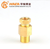 Brass male thread compression connector fittings
