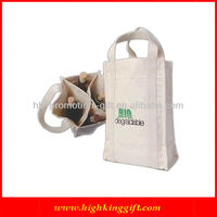Strong 4 bottle canvas wine bags