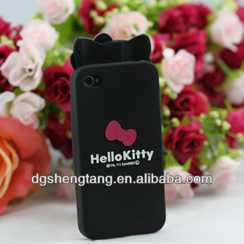 Factory Hello kitty silicone phone case with high quality
