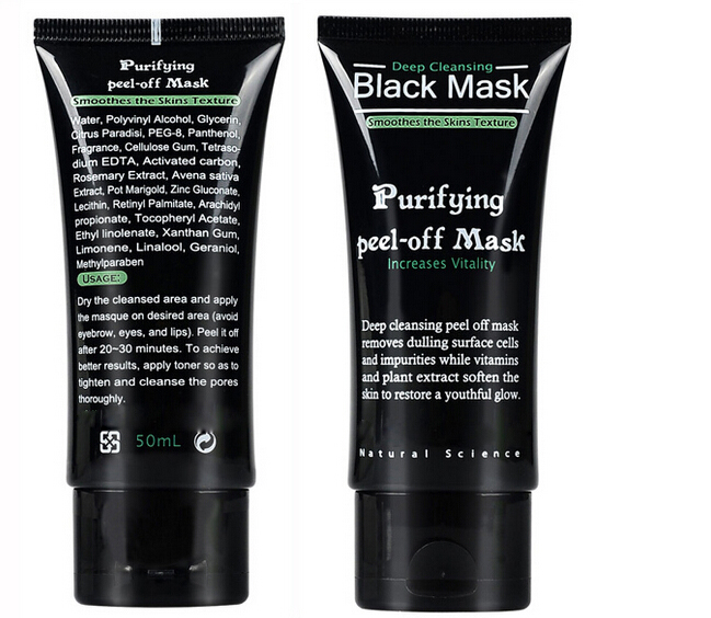 Brand quality Deep Cleansing purifying peel off the Black head acne remover black mud face mask facial mask