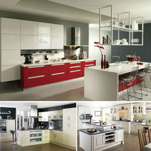 Customized modern lacquer MDF melamine modular cabinet small kitchen designs