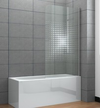 Aluminum Bath Screen /Shower panel/tub screen with decorate