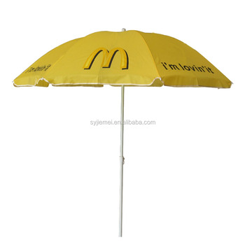 180cm or 200cm Advertising beach umbrellas with customized logo printing
