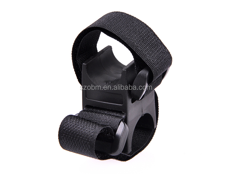 Multifunction Hook&Loop Strap Bicycle Flashlight Mount Holder 20-25mm