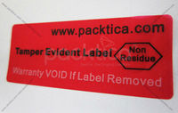 Non Transfer Tamper Evident Security Sticker