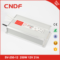 factory outlet IP67 constant voltage 250w 12v waterproof led driver with CE 12volt power supply