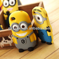 For iPhone 5S despicable me phone case / soft silicon case for iPhone 5 mobile cover / for iPhone 5S soft silicon case