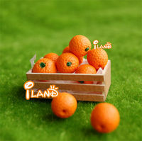 1/12 Dollhouse Miniature Fruit Orange 4 pcs Wooden box not included FF012