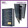 Custom High-End leather diploma certificate printing for school wall decoration