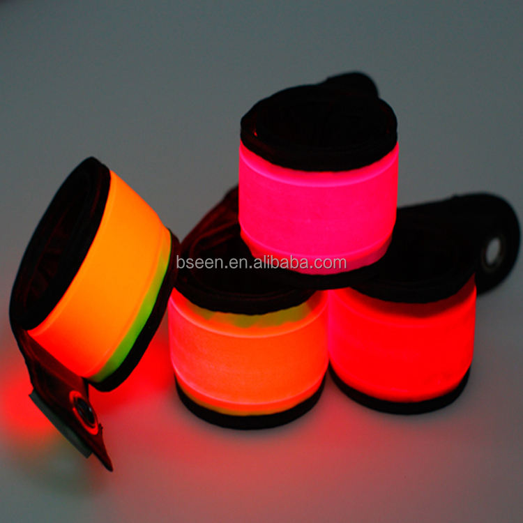 Trending Glowing Hot Products Sport Suit Equipment Armband Sporting Accessories Charming Bracelet Luminous LED Slap Band