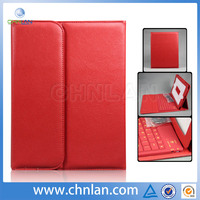 Top grade integrated slim design leather case for samsung galaxy tab 3 tablet keyboard case