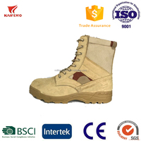 suede cow leather side zip nylon fabric classical military style military desert boot