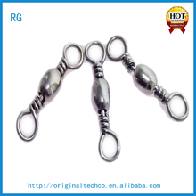 In Stock Free Sample Rolling Sea Fishing Swivels Silver ,Super Tension Metal Copper Crane Fishing Tackle Swivel Snap