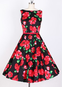2016 new arrival ladies western Floral printed dress